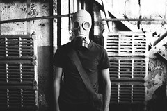 The Air We Breathe (stephen_sutter) Tags: summer urban blackandwhite bw white black art abandoned nature vintage photography amazing mask personal random girly quality grunge apocalypse hipster nuclear dirty gas indie end serene everything dope active chemical wasteland fallout