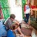 Students gather inside the Sustainability Shack on Wednesday afternoon in between classes.