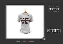 sharp by [ZD] - Mesh Favorite Tee (shine & sharp by [ZD]) Tags: life uk england urban white man black male men fashion shirt by liverpool print jack demo grey football cool shine dress place mesh market flag soccer union gray grau tshirt sharp sl dresses ramones second mann marketplace mp mode tee flagge schwarz mnner kleidung menswear kleid fusball weis mnnlich zd inworld zddesign