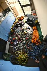 Climbing Gear (ApicalArborist) Tags: tree rock fun climb shiny gear stuff setup ropes climber exciting arborist