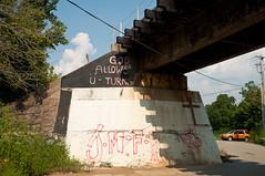 10-2920 (George Hamlin) Tags: railroad bridge sign graffiti photo highway kentucky south country glencoe decor