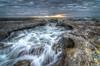 Rushing waves 02 (dazza17 - DJ) Tags: clouds sunrise dawn slow cairns hdr currumbin