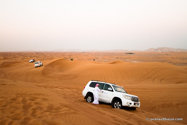 Rescuing A Stuck Car, Desert Safari, Dubai
