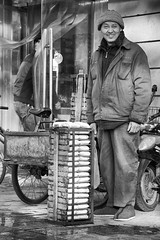 L1007135 Tofu delivery (Dai Luo) Tags: life china street leica travel school blackandwhite bw white black monochrome portraits 35mm fun thailand photography education asia suzhou wuxi play shanghai culture full teacher explore frame hangzhou etc mm monochrom lanzhou fullframe ningbo jiangsu zhejiang streetportraits travelchina freephoto asiaculture ladygaga leicamonochrom leicamm
