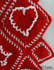 Ruffled Hearts Afghan Crochet Pattern PA231 (maggiescrochet) Tags: art hearts design diy knitting artist pattern stitch designer patterns crafts crochet decoration knit maggie yarn gifts afghan howto designs learn tutorial weldon crocheting ruffled smallsquare vibrantred largesquare whiteyarn maggieweldon crocheter maggiescrochet maggie's maggieweldoncrochet