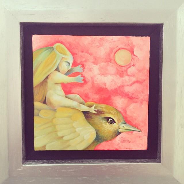 """Sueño de Luna"" de Lennin Vásquez sold • Bazarte #bazarte #arteenlima #artinlima #arte #art #artist #artista #pintura #painting"