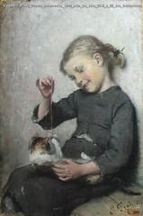 Eugenio Prati Gioco innocente 1889 olio su tela 33.5 x 22 cm Collezione privata