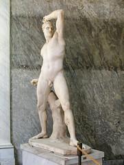 Antonio Canova. Boxer Kreugas (Tiigra) Tags: 2007 italy rome vatican interior rope sculpture statue lazio art