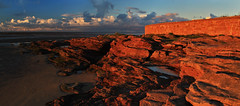 Red Rocks Panorama (David Chennell - DavidC.Photography) Tags: sandstone redrocks wirral merseyside wirralcoast