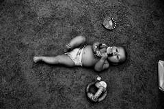 Baby Boy (Goofla) Tags: boy portrait bw baby film canon 35mmfilm illford nio canonrebel2000 nifty50 canon50mmf18lens
