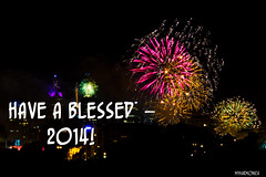 Have a Blessed 2014 (myharmonica) Tags: pink party love beach colours fireworks nye explosion australia melbourne victoria celebration newyearseve elwood countdown newyearsday nyd 2014 pointormond myharmonica goodbye2013 welcome2014