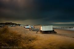beach chalet (Emmanuel DEPARIS) Tags: sea mer storm france beach de north sable pas chanel plage emmanuel calais manche nord deparis calai