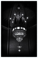 Covenant Sanctuary Lantern (kafoster27) Tags: blackandwhite bw boston ma stainedglass lantern tiffany churchofthecovenant tiffanystainedglass