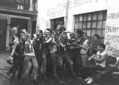 The night before the Chaos Days in Hannover 1984, here at the AJZ Bielefeld by Claudia Schewe