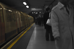Go On By (_alexjd) Tags: city trip bw streets colour london beautiful underground eos 50mm prime amazing kiss day place tube bnw dayout 50m t3i baw ajd primelens 600d alexjd canoneos600d rebelt3i