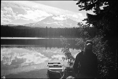 Late last Summer (Button2PushButtons) Tags: camping summer lake film home analog forest self 35mm photography adams olympus xa2 d76 mount national uncropped developed zuiko px125 gifford pinchot takhlakh