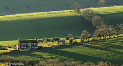 Country House (GlennDriver) Tags: uk morning trees light england house grass rural downs sussex countryside britain farm south country farming gb fields southdowns