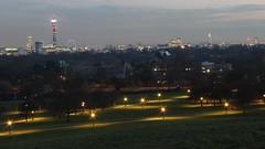 Primrose Hill and London skyline at dusk (ralluchi) Tags: city london skyline skyscrapers dusk canarywharf primrosehill