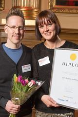 Magnus Emanuel och Ruth Haglund från ICA Banken, nominerad till Web Service Award 2013 i klassen Mobil/app.