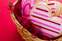 Cookies (Arina Habich) Tags: pink red food white holiday dessert cookie basket flat heart sweet small gourmet domestic homemade fancy sweets icing woven fiber sugary premium indulgence valentinesday doityourself heartshape kitchenware sugarcookie wickerbasket pastrie sweetfood bakedtreat