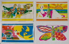 """1969 (4) 34""""x21"""" 7Up UnCola """"Fallpaper"""" posters by Kim Whitesides, Pat Dypold & John Alcorn (btreat) Tags: 1969 illustration vintage poster retro posters billboards 1960s woodstock 7up uncola johnalcorn vintagebillboard vintagebillboards kimwhitesides butterflybottle patdypold uninthesun uncannyincans ununistoo fallpaper vision:text=0656 retrobillboards 7upuncolafallpaperposters 7upfallpaper retroposterset"""