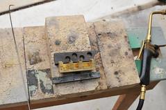 Silver soldering the crankcase (edhume3) Tags: shay metalworking fabrication scratchbuilt crankcase gauge1 locomotivemodel kozonewshay d301460