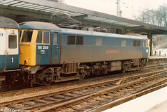 86249 County of Merseyside 10th Dec 1985 Ipswich (Ian Sharman 1963) Tags: county street london station electric train liverpool engine loco class dec norwich 10th passenger 1985 86 ipswich merseyside 86249