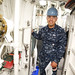 Petty Officer 2nd Class Edgar Lopez, an electronics technician from New Rochelle, N.Y.