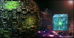 Star Trek: Mission Complete (Rooners Toy Photography) Tags: startrek toys borg scifi sciencefiction figures thecollective borgcube borgsphere rooners