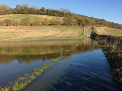 Radnage Bottom Road, Buckinghamshire (Eric Hardy) Tags: flood iphone iphone5 radnagevalley