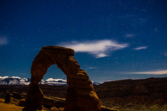 Nathan_Sanborn-5639.jpg (Nathan Sanborn) Tags: mountains night clouds stars landscape utah nationalpark rocks arch arches moonlight delicatearch