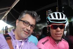 Rosario Pipolo e Rigoberto Uran (Giro d'Italia 2014, Valdengo BI) (Rosario Pipolo) Tags: colombia rosa ciclista bici biella maglia pipolo valdengo rigobertouran rosariopipolo giroditalia2014