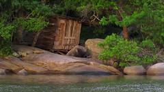 casa de pescador (marcia.kohatsu) Tags: sunset summer house praia beach casa portobelo santacatarina madeira woodhouse pescador casademadeira perequê