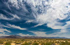 Desert Sky Drama (Daxis) Tags: blue summer arizona usa desert kingman