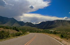 The Road to McKittrick Canyon.  Guadalupe Mountains National Park Texas.  15 June 2015 (ov.black) Tags: road park cloud mountain storm mountains clouds canon eos nationalpark texas tx canyon canoneos guadalupemountainsnationalpark guadalupemountains approachingstorm mckittrickcanyon stormcoming tamronlens stormapproaching efmount 18270mm canoneosm tamronefmount18270mm