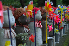 Jizo statues in a line