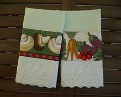Panos de copa com legumes e cogumelos (Ateliê da Russa) Tags: panodeprato panodecopa