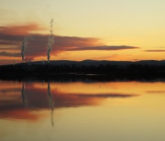 Sunset from South Alloa (cocopie) Tags: sunset river forth steam sky clouds south alloa