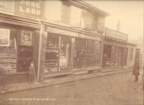 James Worsley, jeweller & silversmith, pawnbroker, 3-5 Leicester Street – 1891