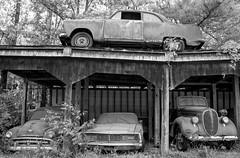 Storage Solution (Todd Evans) Tags: nikon d7100 sigma18250 oldcarcity georgia ga car auto automobile bw blackandwhite
