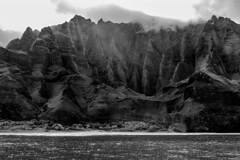 Na Pali Coast (1eyephotography) Tags: kauai hawaii islands ocean mountains blackandwhite bw spine ridge photography landscape pic pictur napalicoast nationalpark