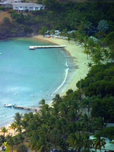 Antigua - View from Shirley Heights - Galleon Beach