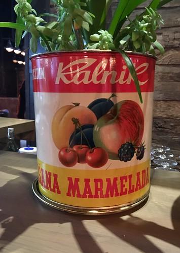 Croatian - possibly ex-Yugoslavian 'Ralnik' marmalade tin design, Zadar, March 2017
