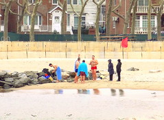 Winter Bathing Fans (dimaruss34) Tags: newyork brooklyn dmitriyfomenko image winter manhattanbeach beach