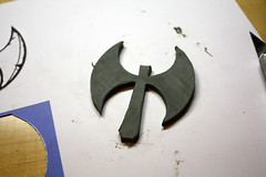 Shield WIP5 (Tsabo Tsaboc) Tags: knights impact cedric shield sir props hillsdale sculpting