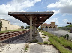 Seaboard Air Line Train Station Delray Beach (Phillip Pessar) Tags: abandoned beach station train florida air rail places historic line amtrak national depot register tr delray seaboard