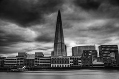 Ships that pass in the day (Explored) (Julian Pett) Tags: city uk white motion black blur building london glass monochrome thames skyline architecture river boat long exposure slow piano structure shard cruiser glas renzo mygearandme mygearandmepremium