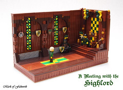 (LCC) A Meeting with the Highlord (Mark of Falworth) Tags: castle window glass lego room throne lcc moc lenfald