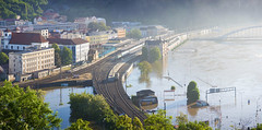 st nad Labem during June 2013 Floods (Borek Lupomesky) Tags: panorama composite flood floods elbe labe stnadlabem