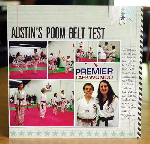 Austin's poom belt test